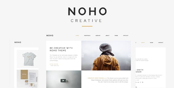 Noho  - Creative Agency Portfolio WordPress Theme