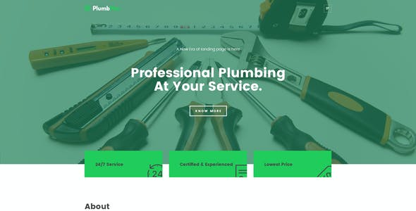 Plumbman - Clean Business Theme for Plumbers, Carpenters or Handymen