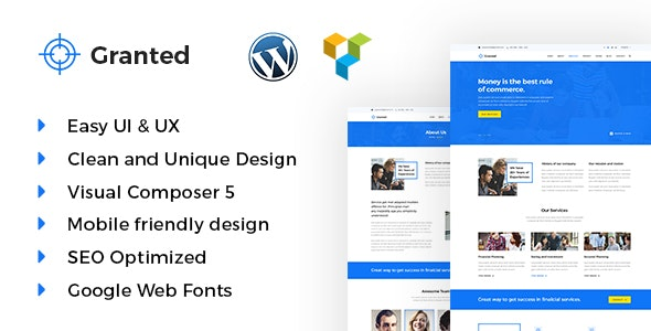Granted - Business & Consultancy WordPress theme - Business Corporate