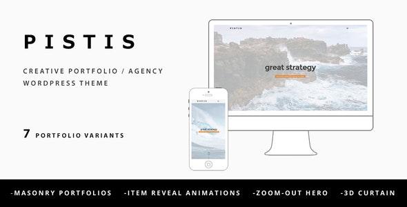 Pistis - Creative Portfolio / Agency WP Theme - Creative WordPress