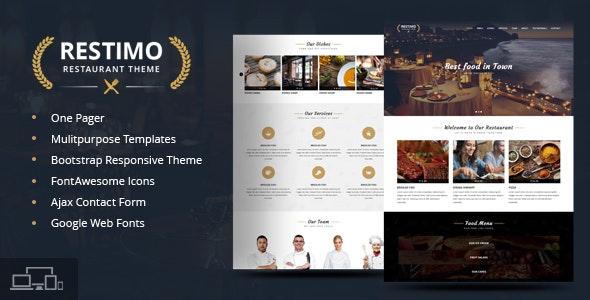 Restimo | A Premium Restaurant, Cakes and Coffee Shop Template - Restaurants & Cafes Entertainment