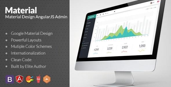 Material Design Admin with AngularJS - Admin Templates Site Templates