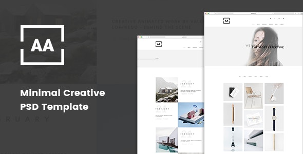 AA - Minimal Creative Portfolio PSD Template - Portfolio Creative