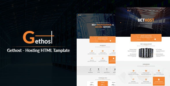 Gethost - Hosting Responsive HTML Template - Hosting Technology