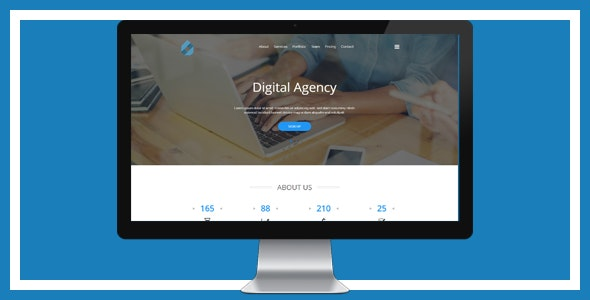 Digital Agency Landing Template - Corporate Site Templates