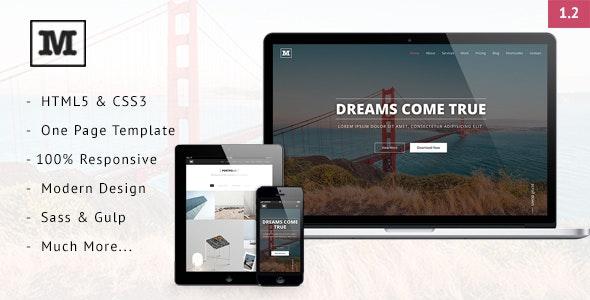 Mild - Multipurpose One Page HTML Template - Portfolio Creative
