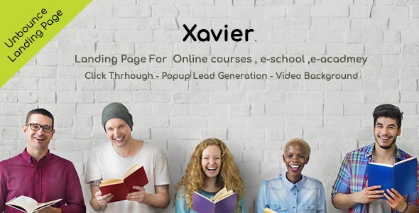 Xavier Unbounce Landing Page - Unbounce Landing Pages Marketing