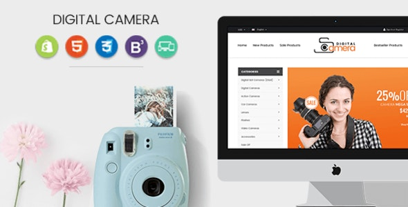 Materient - Camera Store Responsive Shopify Theme - Technology Shopify