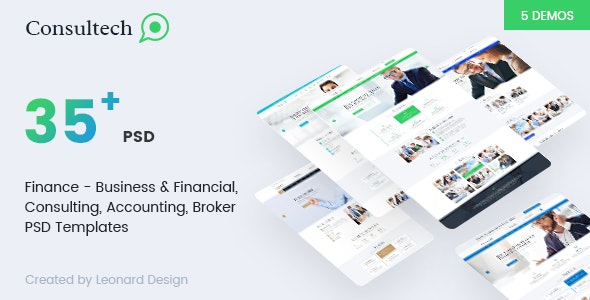 Consultech | Multipurpose Business & Financial, Consulting, Accounting, Broker Psd Templates - Business Corporate
