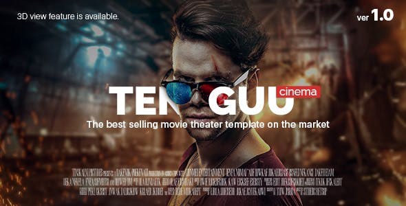 Tenguu Cinema - Movie theatre HTML Template