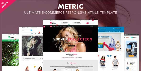 Metric- Ultimate E-Commerce Responsive HTML5 Template - Retail Site Templates