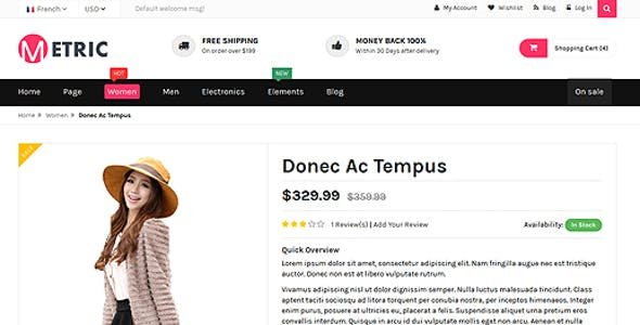Metric- Ultimate E-Commerce Responsive HTML5 Template