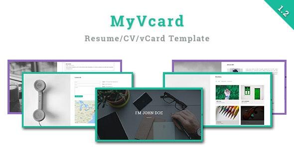 MyVCard - Responsive & Creative Resume/CV/vCard Template - Portfolio Creative