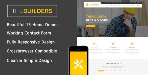 The Builders - Construction HTML Template - Corporate Site Templates