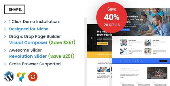 Shape - Business, Consultation & Finance WordPress Theme - Business Corporate