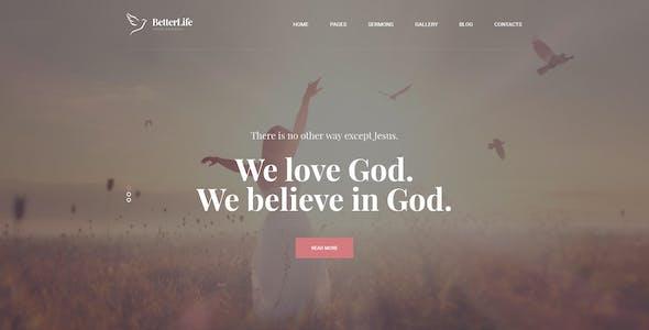 BetterLife - Church & Religious PSD template