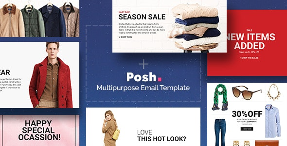 Posh - Commerce Multipurpose Email + Builder Access - Newsletters Email Templates