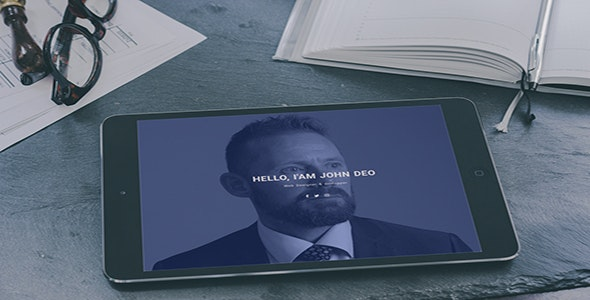 Jarven - One Page Personal Portfolio Template - Personal Site Templates