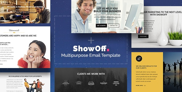 Showoff - Stylish Multipurpose Email + Builder Access - Newsletters Email Templates