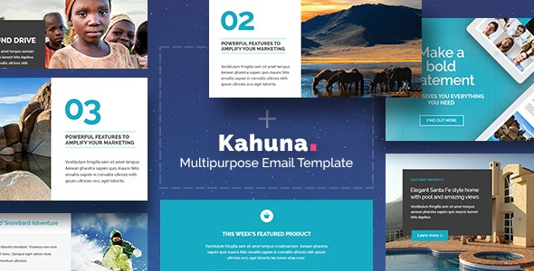 Kahuna - Giant Multipurpose Email + Builder Access - Newsletters Email Templates