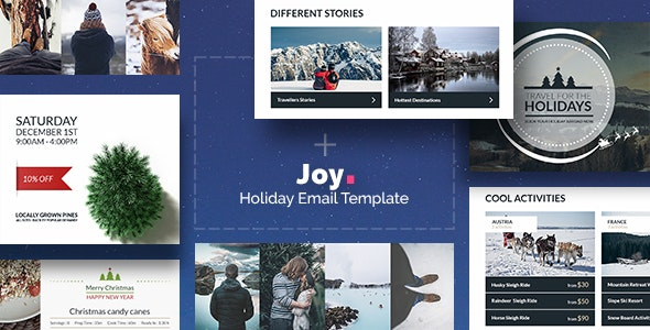 Joy - Christmas Email Template Bundle + Builder Access - Newsletters Email Templates
