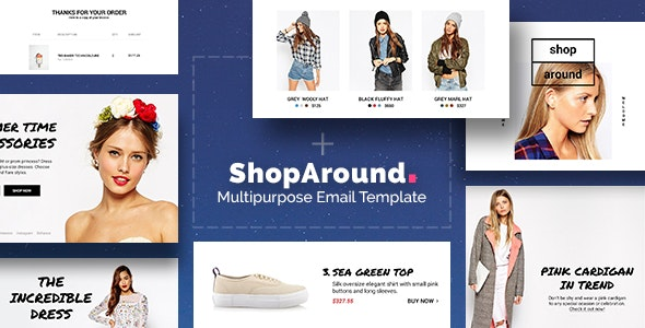 ShopAround - Multipurpose Email + Builder Access - Newsletters Email Templates
