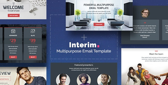 Interim - Multipurpose Email + Builder Access - Newsletters Email Templates