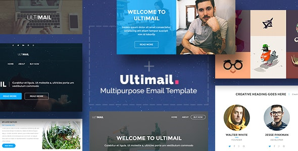 UltiMail - Multipurpose Email + Builder Access - Newsletters Email Templates