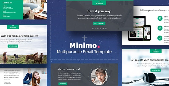 Minimo - Responsive Email + Drag&Drop Builder - Newsletters Email Templates