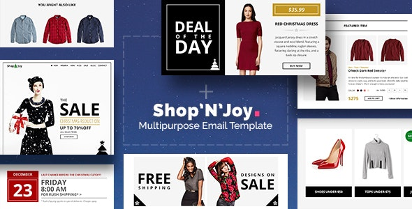 Shop&Joy - Responsive Email + Drag&Drop Builder - Newsletters Email Templates