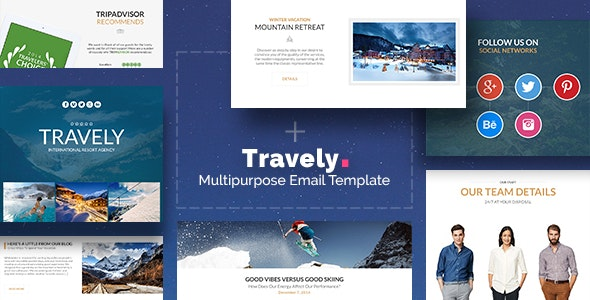 Travely - Tourism Email + Template Builder Access - Newsletters Email Templates