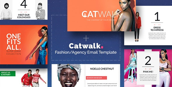 Catwalk - Fashion Email + Builder/Editor Access - Newsletters Email Templates