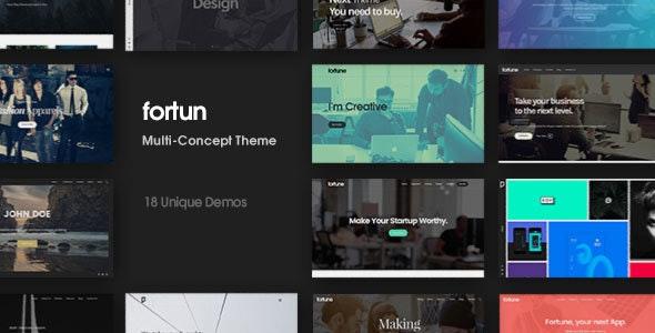 Fortun   Multi-Concept WordPress Theme - Creative WordPress