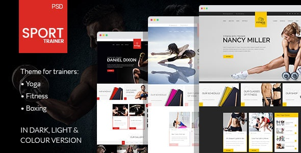 Sport Trainer - PSD Template - Health & Beauty Retail