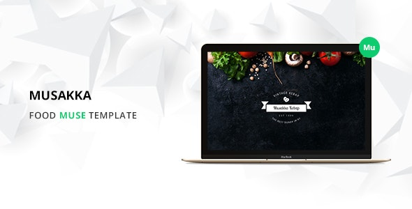 Musakka Responsive Restaurant Muse Theme - Corporate Muse Templates