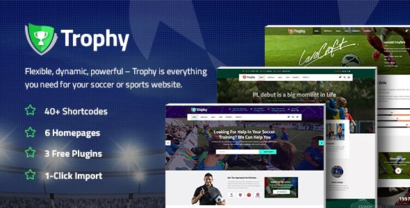 Trophy - Sports Theme for Soccer and Football Clubs