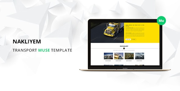 Nakliyem Logistic Muse Template - Corporate Muse Templates