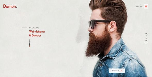 Damon - Resume, Personal, CV, vCard WordPress Theme - Personal Blog / Magazine