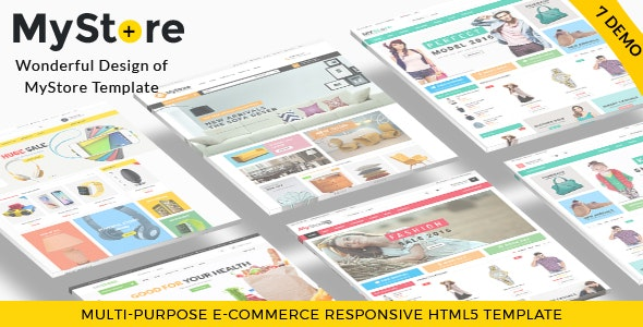 MyStore- Ultimate E-Commerce Responsive HTML Template & Theme - Retail Site Templates