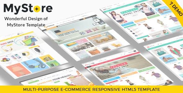 MyStore- Ultimate E-Commerce Responsive HTML Template & Theme