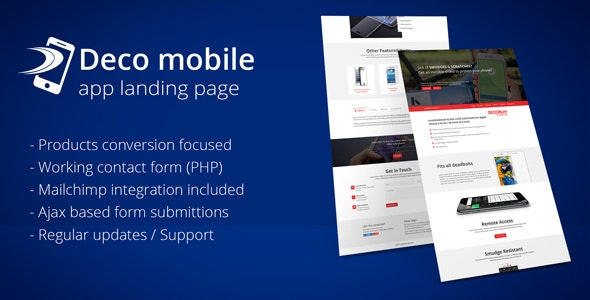 Deco Mobile app landing page - Apps Technology