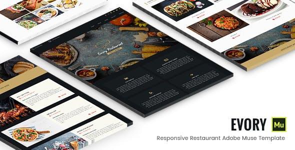 Evory - Responsive Restaurant Adobe Muse Template