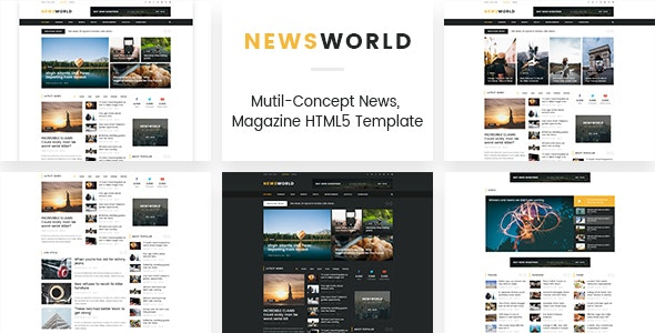 Newsworld | Mutil-Concept Magazine HTML5 Template - Experimental Creative