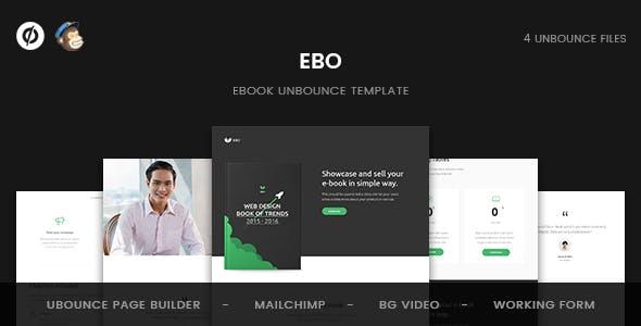 Ebo - Ebook Unbounce Template
