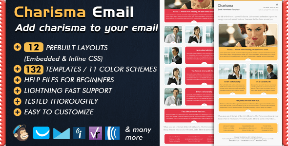 Email Template - CHARISMA - Email Templates Marketing