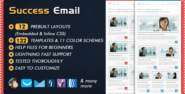 SUCCESS Newsletter - Email Templates Marketing