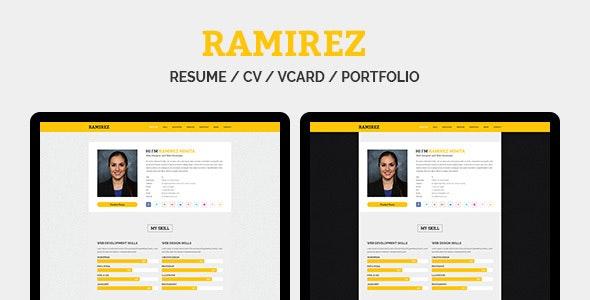 RAMIREZ - Resume / CV / vCard / Portfolio - Virtual Business Card Personal