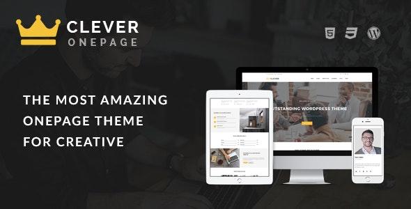 Clever One Page - Creative WordPress Theme - Portfolio Creative