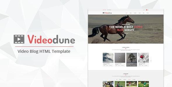 Videodune - Video Blog HTML Template - Entertainment Site Templates