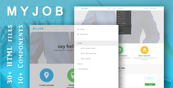 Myjob - Job Postings HTML5 Template - Business Corporate